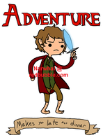 It's Adventure Time --SHIRTS/STICKERS-- by TheMightyNarwhal