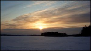 Sun over the ice by Re-written