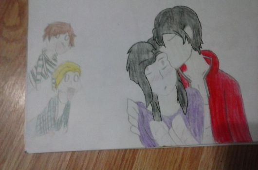 Aphmau,Aaron,Garroth,and  laurence by Everdin1