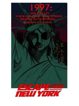 Escape From New York Shirt Design by KevWeldon