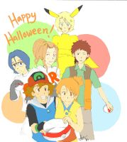 Digimon Halloween by Chibi-Kiwi93