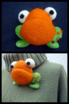 The Fat Frog by Woolydesigns