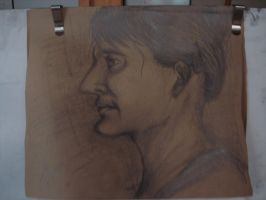 Woman Side Profile in Pencil by sarthahirah