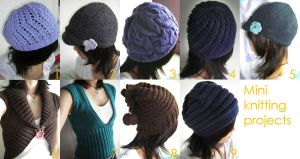 Series of knitting projects by prismtwine