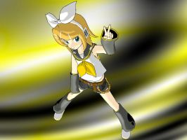 Rin Kagamine by DeathNoteE