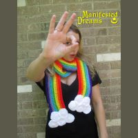Peekaboo Rainbow Scarf by ManifestedDreams
