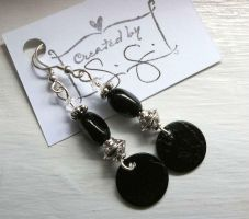 Black Moon earrings by IdolRebel
