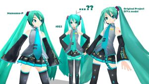 Project DIVA model comparison by ShadowLord97
