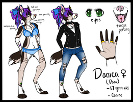 Danica (Dani) Ref by Dragon-Wolf-Lover