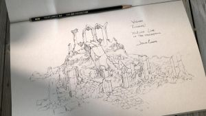 Sketching Albdur`s Tower top by JesusAConde