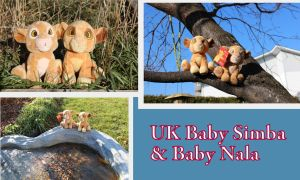 UK baby Simba and Nala by Laurel-Lion