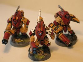 Warhammer 40k Tau stealth team 1 by DayWeAntArt