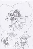 Really Old Wordgirl Sketch by Glowin-theSHARK