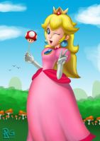 3 Princesses: Peach by BabyVegeta