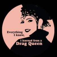 Drag Queen Button by skippyskits