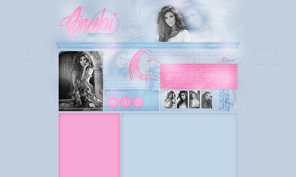 Layout: Anahi by iseayoubeach