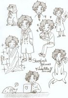 Sketches Sherlock by LadyMilka