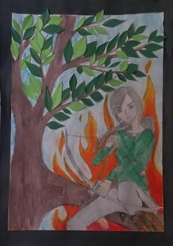 The Girl on Fire by MariMermaid
