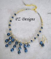 Gabrielle's Pearls Jewelry Set by PurlyZig