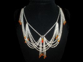 Fire Drip Crystal Necklace by Ajalee-Jewelry