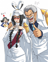 Female Sengoku with male Garp by LittleWindy7