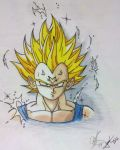 Majin Vegeta by jimcrilley