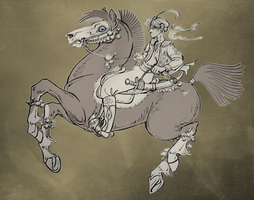 WIP: equine style meme inspired... by Peccantis