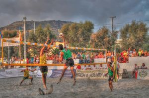 game of beach volley - HDR by yoctox