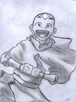 Aang Sketch by dragnclaw