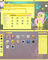 Fluttershy Gnome-shell 3.2 theme by Hopskocz