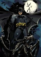 Batman on gargoyle2 by camillo1988