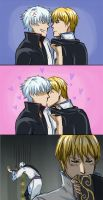 Gintama strip -- Gintoki x Kintoki by Amanduur