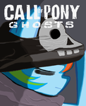 Call of Pony Ghosts Rainbowdash in Paint by sallycars