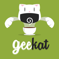 Oldies - Geekat first logo by Illuday