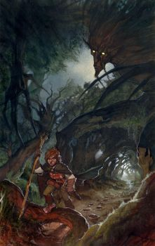 An Ent and a Hobbit. by LordMishkin
