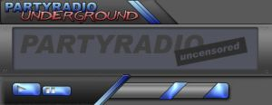 Partyradio web player design by McJonny