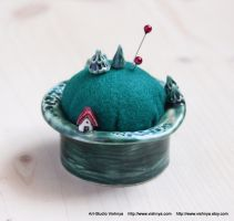 Magical planet - Pincushion and Decorative Pins by vavaleff