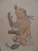 Anthro NativeAmerican Bear WIP by Frodo-Lion