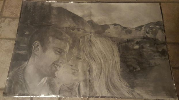 Charlotte and Josiah full size drawing by LariaReve