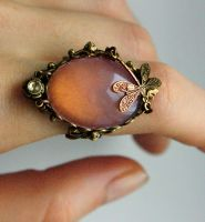 Pale pink fantasy ring I by Pinkabsinthe