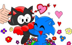 Sonic and Shadow Chao Love by MaystheKiller