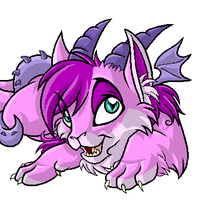 Pink dragon-kitty thing XD by Daffupanda
