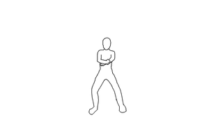 Gangnam style Animation Dance Base Frames Guide by mayahatsune