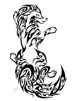 AT: Tribal Arcanine by Friend-Owl