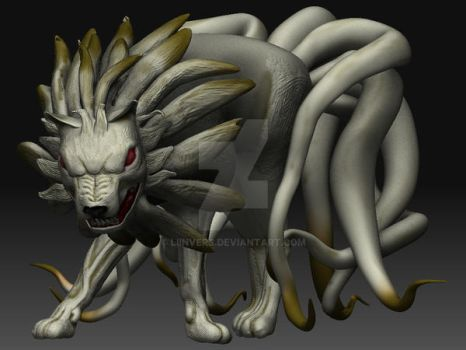 Ninetails in my style 3D by liinvers