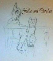 Father and Daughter by Graswhistle