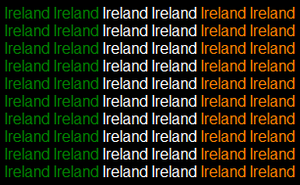 Ireland mini name flag by ABtheButterfly