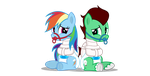 Bonded together(Pony)(cyberapple456) by northern-haste