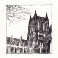 Lincoln Cathedral - Etching (dry point) by laurenlouiseallen