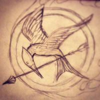 The Hunger Games Mockingjay pin by SoulEaterRagnorok